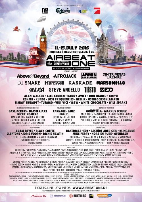 Airbeat One Dance Festival 2018 Internationale High Class Djs